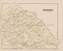 Snowden Scott Homestead Pennsylvania Antique Map Hopkins 1876