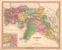 Turkey in Asia Antique Map Tanner 1836