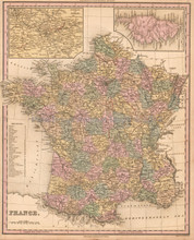 France Antique Map Tanner 1836