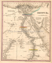 Egypt Antique Map Tanner 1836