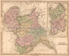 Sardinia Antique Map Tanner 1836