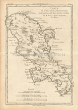 Martinique Antique Map Bonne 1780