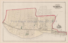 Verona Mansfield Amity Pennsylvania Antique Map Hopkins 1876