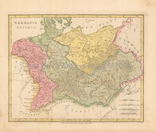 Ancient Germany Antique Map Wilkinson 1815