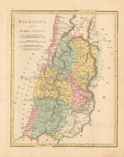 Ancient Palestine Antique Map Wilkinson 1815