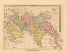 Ancient Asia Antique Map Wilkinson 1815