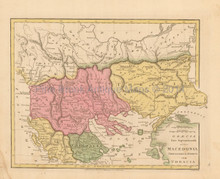 Macedonia Thracia Antique Map Wilkinson 1815