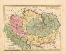 Ancient Balkans Romania Antique Map Wilkinson 1815