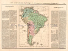 South America Antique Map Buchon 1825
