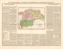 Colombia Antique Map Buchon 1825