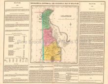 Delaware Antique Map Carey Lea 1822