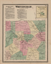 Whitingham Vermont Antique Map Beers 1869