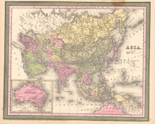 Asia Antique Map DeSilver 1855