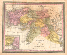Turkey Iraq Antique Map DeSilver 1855