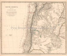 La Plata Chile Antique Map SDUK 1840