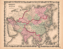 Asia Antique Map AJ Johnson 1862