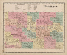 Florence New York Antique Map Beers 1874