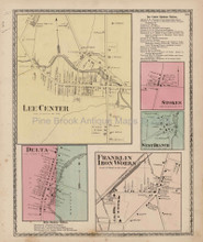 Lee Center Franklin New York Antique Map Beers 1874