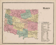 Marcy New York Antique Map Beers 1874