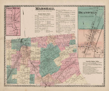 Marshall Deansville New York Antique Map Beers 1874