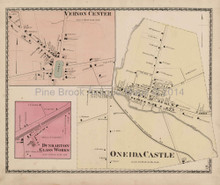 Vernon Center New York Antique Map Beers 1874