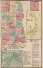 Annsville Taberg New York Antique Map Beers 1874