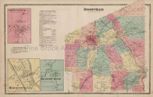 Boonville Hawkinsville New York Antique Map Beers 1874