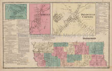 Deerfield New York Antique Map Beers 1874