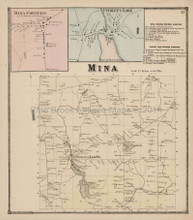 Mina Findley's Lake New York Antique Map Stewart 1867