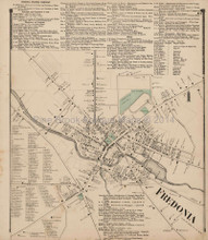 Fredonia New York Antique Map Stewart 1867