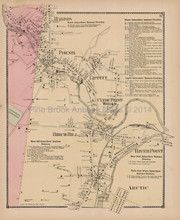 Phenix River Point Rhode Island Antique Map Beers 1870