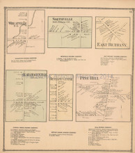 Wheatville Smithville New York Antique Map Beers 1866