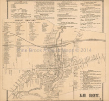 Le Roy New York Antique Map Beers 1866