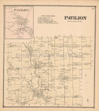 Pavilion New York Antique Map Beers 1866