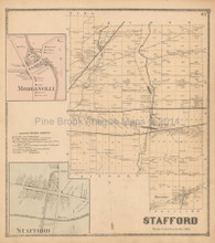 Stafford Morganville New York Antique Map Beers 1866