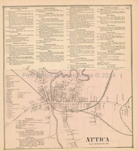 Attica New York Antique Map Beers 1866