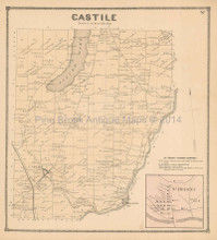 Castile St. Helena New York Antique Map Beers 1866