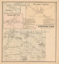 Covington Pearl Creek New York Antique Map Beers 1866