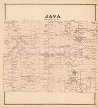 Java New York Antique Map Beers 1866