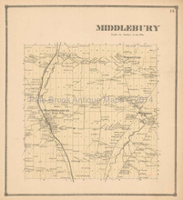 Middlebury New York Antique Map Beers 1866