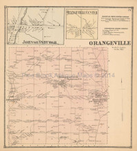Orangeville Johnsonburgh New York Antique Map Beers 1866
