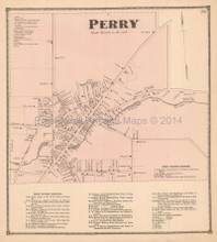 Perry New York Antique Map Beers 1866