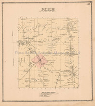 Pike New York Antique Map Beers 1866