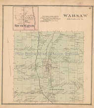Warsaw New York Antique Map Beers 1866