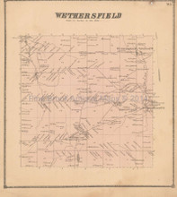 Wethersfield New York Antique Map Beers 1866