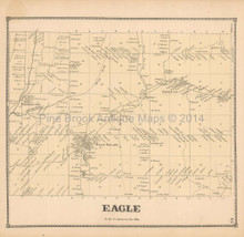 Eagle New York Antique Map Beers 1866
