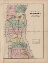 Seneca County New York Antique Map Nichols 1874