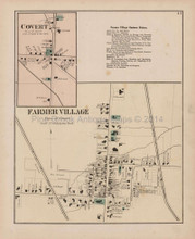Farmer Village Covert New York Antique Map Nichols 1874