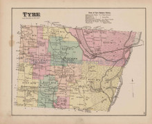 Tyre New York Antique Map Nichols 1874