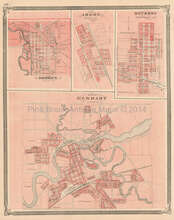 Elkhart Goshen Argos Indiana Antique Map Baskin 1876